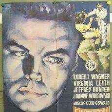 Cine: T05178 UN BESO ANTES DE MORIR ROBERT WAGNER JEFFREY HUNTER RUMBO POSTER ORIGINAL 70X100 ESTRENO. Lote 18617644