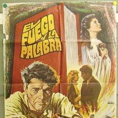 Cine: T05198 EL FUEGO Y LA PALABRA BURT LANCASTER JEAN SIMMONS ESC POSTER ORIGINAL 70X100 ESTRENO. Lote 6370068