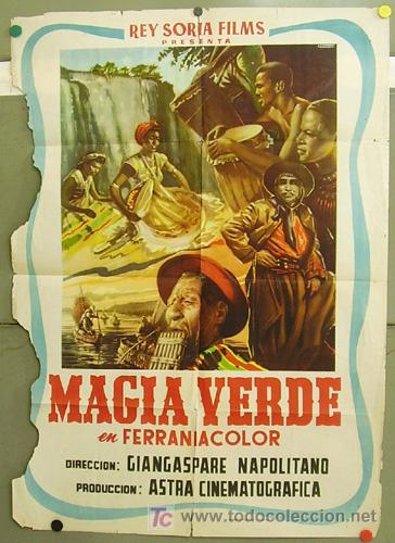 T05222 MAGIA VERDE DOCUMENTAL POSTER ORIGINAL 70X100 ESTRENO (Cine - Posters y Carteles - Documentales)