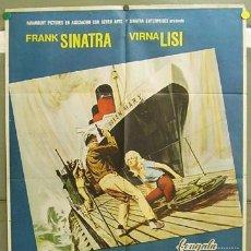 Cine: T05260 ASALTO AL QUEEN MARY FRANK SINATRA POSTER ORIGINAL 70X100 ESTRENO. Lote 6382681