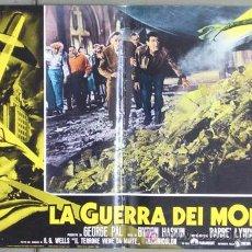 Cine: CH89 LA GUERRA DE LOS MUNDOS H. G. WELLS BYRON HASKIN SET DE 6 POSTERS ITALIANO 47X68. Lote 19755200