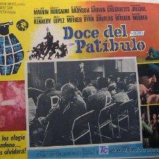 Cine: DOCE DEL PATIBULO - LEE MARVIN - CHARLES BRONSON - GUERRA - CHEYENNE - ORIGINAL MEXICAN LOBBY CARD. Lote 19287493