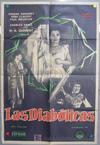 T05300D LAS DIABOLICAS HENRI-GEORGES CLOUZOT SIGNORET JOHNNY HALLYDAY POSTER ARGENTINO 75X110 (Cine - Posters y Carteles - Suspense)
