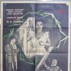 Cine: T05300D LAS DIABOLICAS HENRI-GEORGES CLOUZOT SIGNORET JOHNNY HALLYDAY POSTER ARGENTINO 75X110. Lote 18146477