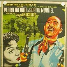 Cine: T05313 VUELVE MARTIN CORONA SARA MONTIEL PEDRO INFANTE JOSEP RENAU POSTER ORIGINAL MEJICANO 70X94. Lote 10349745