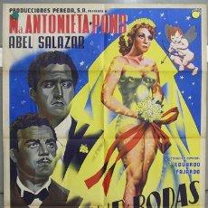 Cine: T05296 JOSEP RENAU MI NOCHE DE BODAS MARIA ANTONIETA PONS POSTER ORIGINAL MEJICANO 70X94 LITOGRAFIA. Lote 7401625