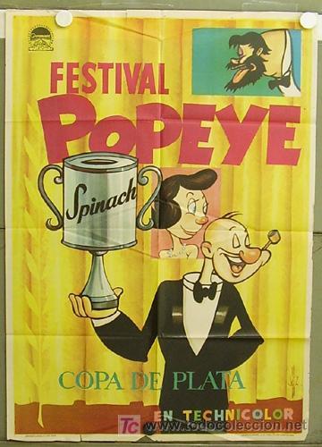 T05347 FESTIVAL DE POPEYE POSTER ORIGINAL 70X100 ESTRENO (Cine - Posters y Carteles - Infantil)
