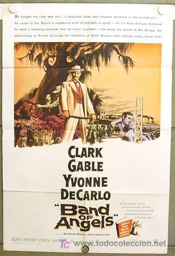 XF81D LA ESCLAVA LIBRE CLARK GABLE YVONNE DE CARLO POSTER ORIGINAL USA 70X105 (Cine - Posters y Carteles - Westerns)