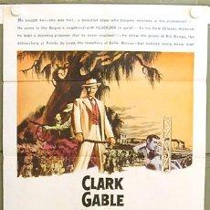 Cine: XF81D LA ESCLAVA LIBRE CLARK GABLE YVONNE DE CARLO POSTER ORIGINAL USA 70X105. Lote 8558446