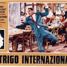Cine: RK65D CON LA MUERTE EN LOS TALONES ALFRED HITCHCOCK CARY GRANT SET DE 8 POSTERS ITALIANO 47X68. Lote 19777286