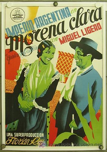 T05436 MORENA CLARA IMPERIO ARGENTINA POSTER ORIGINAL 70X100 LITOGRAFIA ENTELADO (Cine - Posters y Carteles - Clasico Español)