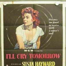 Cine: ZC83D MAÑANA LLORARE SUSAN HAYWARD POSTER ORIGINAL USA 70X105. Lote 8644085