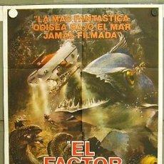 Cine: T05440 ODISEA BAJO EL MAR BEN GAZZARA YVETTE MIMIEUX SUBMARINISMO POSTER ORIGINAL ARGENTINO 75X110. Lote 6513991