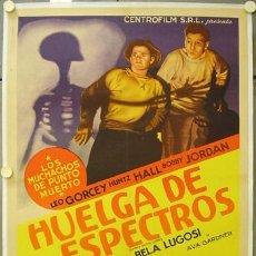 Cine: T05411D GHOSTS ON THE LOOSE BELA LUGOSI POSTER ORIGINAL ARGENTINO 75X110 ESTRENO ENTELADO LITOGRAFIA. Lote 14039657