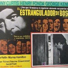 Cine: HENRY FONDA EL ESTRANGULADOR DE BOSTON - TONY CURTIS - GEORGE KENNEDY ORIGINAL MEXICAN LOBBY CARD. Lote 13586600
