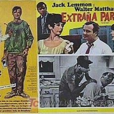 Cine: JACK LEMMON - EXTRAÑA PAREJA - WALTER MATTHAU - ORIGINAL MEXICAN LOBBY CARD. Lote 13586627