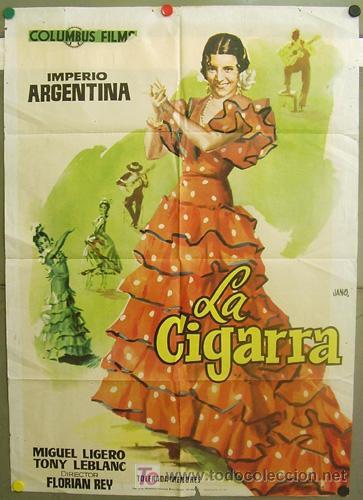 T05506 LA CIGARRA IMPERIO ARGENTINA POSTER ORIGINAL 70X100 MUY RARO (Cine - Posters y Carteles - Clasico Español)