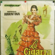Cine: T05506 LA CIGARRA IMPERIO ARGENTINA POSTER ORIGINAL 70X100 MUY RARO. Lote 13024106
