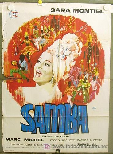 T05634 SAMBA SARA MONTIEL RAFAEL GIL POSTER ORIGINAL 70X100 DEL ESTRENO (Cine - Posters y Carteles - Clasico Español)