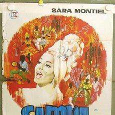 Cine: T05634 SAMBA SARA MONTIEL RAFAEL GIL JANO POSTER ORIGINAL 70X100 ESTRENO. Lote 6580595