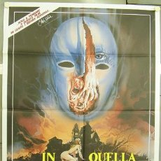 Cine: ZM55D BUIO OMEGA DEMENCIA JOE D'AMATO POSTER ORIGINAL ITALIANO 100X140. Lote 10256127