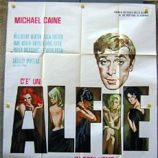 Cine: T05736 ALFIE MICHAEL CAINE POSTER ORIGINAL ITALIANO 140X200. Lote 19850388