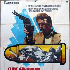 Cine: TO35D HARRY EL FUERTE DIRTY HARRY 2ND FILM CLINT EASTWOOD POSTER ORIGINAL ITALIANO 140X200. Lote 20641133