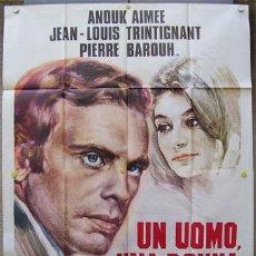 Cine: YD78D UN HOMBRE Y UNA MUJER CLAUDE LELOUCH ANOUK AIMEE POSTER ORIGINAL ITALIANO 140X200. Lote 15517993