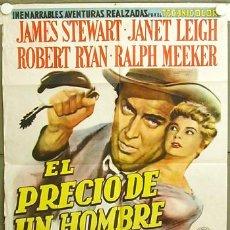 Cine: XV92D COLORADO JIM JAMES STEWART JANET LEIGH ANTHONY MANN POSTER ORIGINAL ARGENTINO 75X110. Lote 9264019