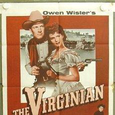 Cine: T05805 EL VIRGINIANO THE VIRGINIAN JOEL MCCREA POSTER ORIGINAL USA 70X105. Lote 6689928