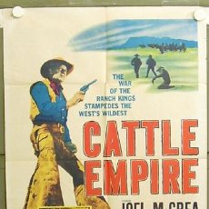 Cine: T05806 CATTLE EMPIRE JOEL MCCREA POSTER ORIGINAL USA 70X105. Lote 6689936
