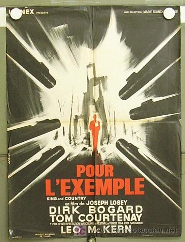 ZQ15D REY Y PATRIA JOSEPH LOSEY DIRK BOGARDE POSTER ORIGINAL FRANCES 58X79 (Cine- Posters y Carteles - Drama)