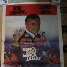 Cine: CARTEL DE CINE NUNCA DIGAS NUNCA JAMAS JAMES BOND 007 SEAN CONNERY. Lote 24090793