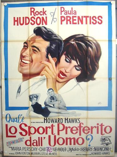 XX24D SU JUEGO FAVORITO ROCK HUDSON PAULA PRENTISS HOWARD HAWKS POSTER ORIGINAL ITALIANO 140X200 (Cine - Posters y Carteles - Aventura)