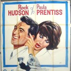 Cine: XX24D SU JUEGO FAVORITO ROCK HUDSON PAULA PRENTISS HOWARD HAWKS POSTER ORIGINAL ITALIANO 140X200. Lote 15534650