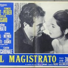 Cine: T05811 EL MAGISTRADO JOSE SUAREZ JACQUELINE SASSARD CLAUDIA CARDINALE POSTER ORIGINAL ITALIANO 47X68. Lote 6694711