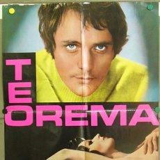 Cine: T05839 TEOREMA PIER PAOLO PASOLINI SILVANA MANGANO POSTER ORIGINAL ITALIANO 68X94. Lote 15463567