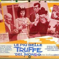 Cine: T05844 LAS MAS FAMOSAS ESTAFAS DEL MUNDO DENEUVE POLANSKI CHABROL POSTER ORIGINAL ITALIANO 68X94. Lote 6696927