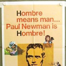 Cine: ZC92D UN HOMBRE PAUL NEWMAN POSTER ORIGINAL USA 70X105. Lote 6706742