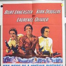 Cine: ZC97D EL DISCIPULO DEL DIABLO BURT LANCASTER LAURENCE OLIVIER KIRK DOUGLAS POSTER ORIGIN USA 70X105. Lote 7740314