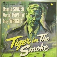 Cine: T05880 TIGER IN THE SMOKE DONALD SINDEN POSTER ORIGINAL INGLES 70X105 LITOGRAFIA. Lote 6708658