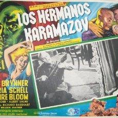 Cine: YUL BRYNNER - LOS HERMANOS KARAMAZOV - MARIA SCHELL - CLAIRE BLOOM - ORIGINAL MEXICANO LOBBY CARD . Lote 13404206