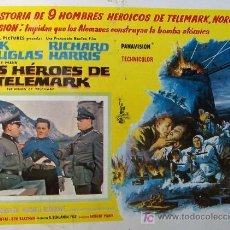 Cine: KIRK DOUGLAS - LOS HEROES DE TELEMARK - RICHARD HARRIS - BELICO - ORIGINAL MEXICANO LOBBY CARD . Lote 13433915