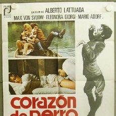 Cine: T05923 CORAZON DE PERRO ALBERTO LATTUADA MAX VON SYDOW POSTER ORIGINAL 70X100 ESTRENO. Lote 6731136