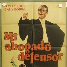 Cine: T05933 MI ABOGADO DEFENSOR O.W. FISCHER DANY ROBIN POSTER ORIGINAL 70X100 ESTRENO. Lote 6731753