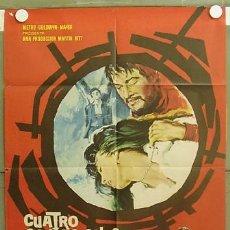 Cine: T05951 CUATRO CONFESIONES PAUL NEWMAN POSTER ORIGINAL 70X100 ESTRENO. Lote 6732301