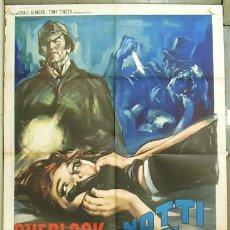 Cine: VC87 SHERLOCK HOLMES ESTUDIO DE TERROR JOHN NEVILLE POSTER ORIGINAL ITALIANO 100X140. Lote 19732970