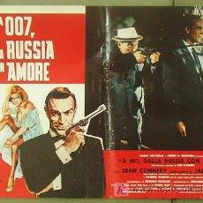 Cine: T06026 DESDE RUSIA CON AMOR JAMES BOND 007 SEAN CONNERY POSTER ORIGINAL ITALIANO 47X68. Lote 6754569
