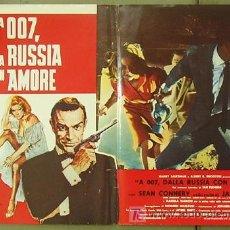 Cine: T06024 DESDE RUSIA CON AMOR JAMES BOND 007 SEAN CONNERY POSTER ORIGINAL ITALIANO 47X68. Lote 6754571
