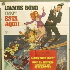 Cine: T06052 007 AL SERVICIO SECRETO DE SU MAJESTAD JAMES BOND LAZENBY POSTER ORIGINAL ESTRENO 70X100. Lote 12995708